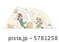 おもち 餅つき モチのイラスト 5781258