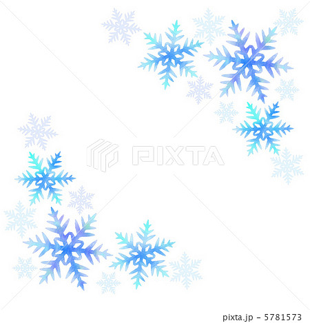 雪の結晶のイラストのイラスト素材 5781573 Pixta