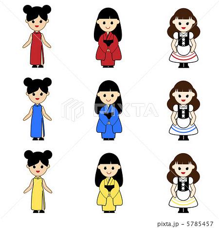 民族衣装のイラスト素材 5785457 Pixta