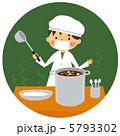 男児 給食 給食当番のイラスト 5793302