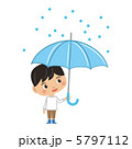 雨傘 降雨 傘のイラスト 5797112