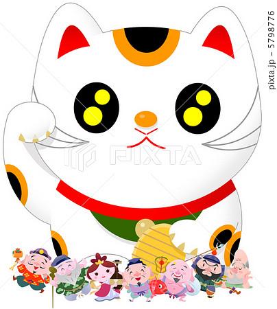 七福神招き猫のイラスト素材 ... : 日本地図 画像 : 日本