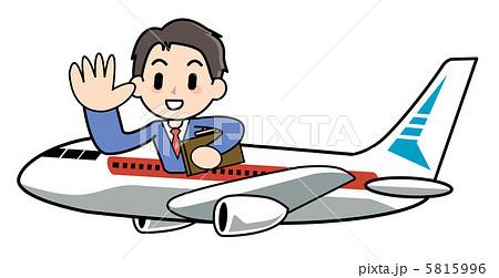 海外出張・航空中 5815996