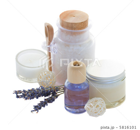 Lavender spa setの写真素材 [5816101] - PIXTA
