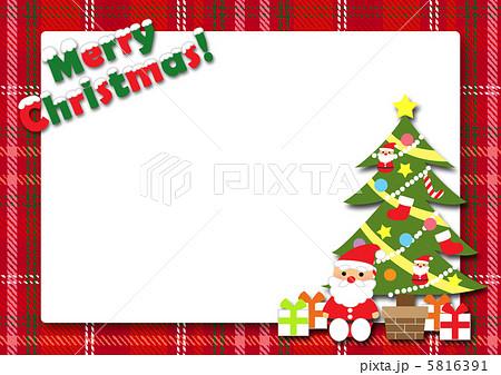 クリスマスカードのイラスト ... : クリスマスカード 写真フレーム : カード