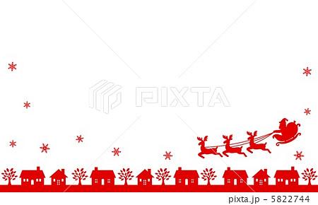 クリスマス赤シルエット町 5822744