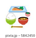 朝食 味噌汁 和食のイラスト 5842450