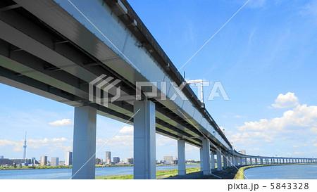 葛西橋からの首都高速高架下の眺め 5843328