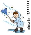 暴風 嵐 雨のイラスト 5862238