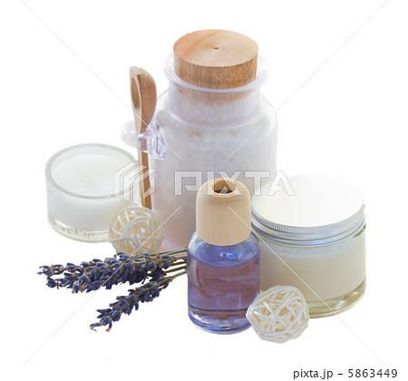 Lavender spa setの写真素材 [5863449] - PIXTA