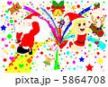 パーティ サンタ クリスマスのイラスト 5864708