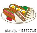 ホットドックとサンドイッチ 5872715