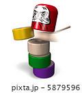ゲーム だるまおとし おもちゃのイラスト 5879596