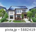ソーラーパネル 一軒家 戸建のイラスト 5882419