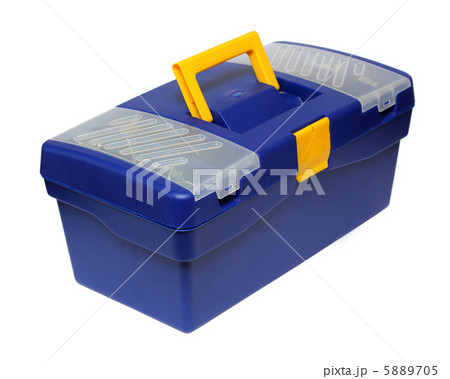 blue plastic toolboxの写真素材 [5889705] - PIXTA