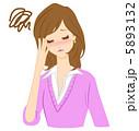 風邪 頭痛 インフルエンザのイラスト 5893132