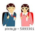 男子 小学生 女子のイラスト 5893301