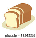スライス 薄切り パンのイラスト 5893339
