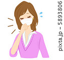 せき くしゃみ 咳のイラスト 5893806