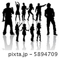 Dancing and Singing People's Silhouettes 5894709