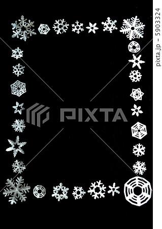 雪の結晶 切り絵のフレーム 5903324