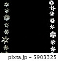 雪の結晶 切り絵のフレーム 5903325