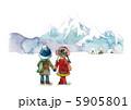雪山と子供 5905801