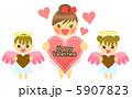 バレンタイン 天使と女の子 5907823