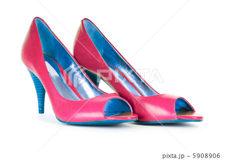 Red female shoes in fashion conceptの写真素材 [5908906] - PIXTA