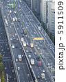幹線道路 阪神高速 自動車道の写真 5911509
