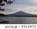 河口湖 冨士山 湖の写真 5914972