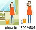 主婦 大掃除 掃除のイラスト 5929606