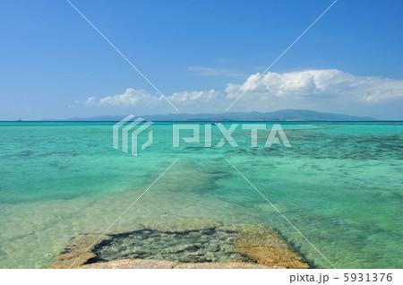 沖縄 竹富島 西桟橋の風景写真 5931376