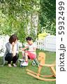 ポートレート 遊ぶ お母さんの写真 5932499