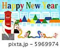 happynewyear ヘビ 蛇のイラスト 5969974