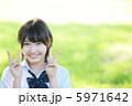 ピース 高校生 女子高生の写真 5971642