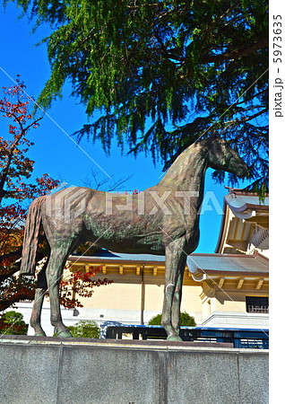 靖国神社の「戦歿馬慰霊像」(東京都千代田区九段北) 5973635