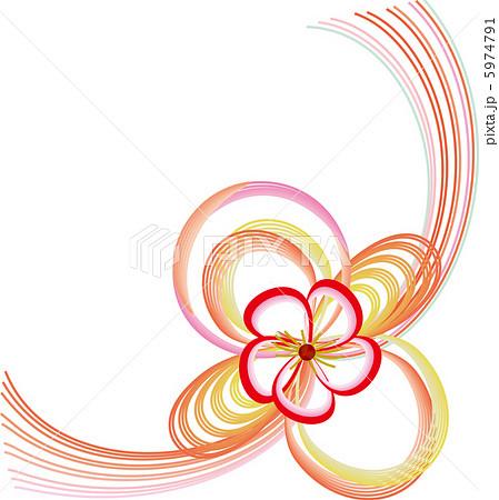 お花の水引のイラスト素材 5974791 Pixta