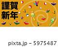 白蛇 巳年 年賀のイラスト 5975487