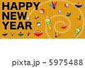 白蛇 巳年 年賀のイラスト 5975488