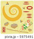 白蛇 元旦 巳年のイラスト 5975491