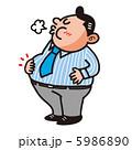 メタボ 満腹の男性 5986890