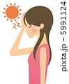 紫外線と熱中症で悩む女性 5991124