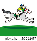 ジョッキー 競走馬 サラブレッドのイラスト 5991967