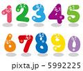 ポップな数字キャラクター 5992225