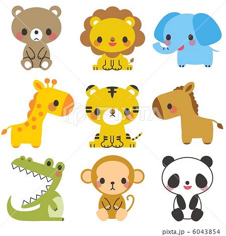 動物 イラストのイラスト素材 6043854 Pixta