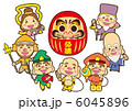達磨 七福神 神様のイラスト 6045896