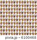 招き猫と門松の繰り返しパターン素材(白背景) 6100468
