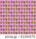 招き猫と門松の繰り返しパターン素材(ピンク背景) 6100470