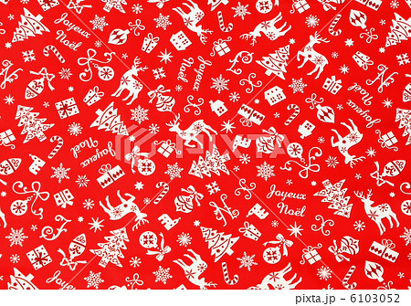 クリスマス、クリスマス背景・赤 6103052